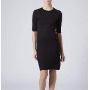Topshop Black Ribbed Bodycon Dress!
